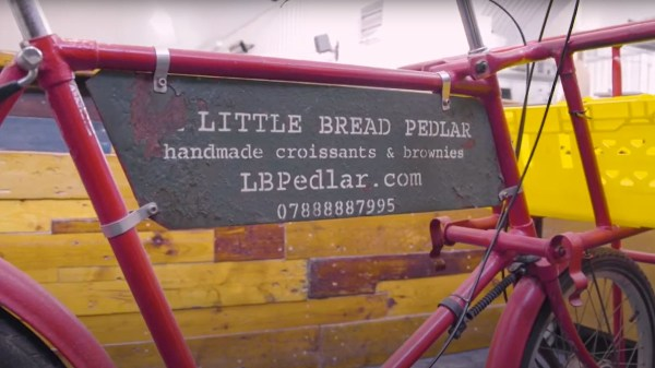 Little bread pedlar bicycle
