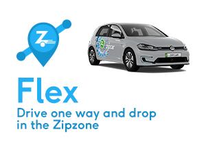 zipcar flex drive one way and drop in the zipzone