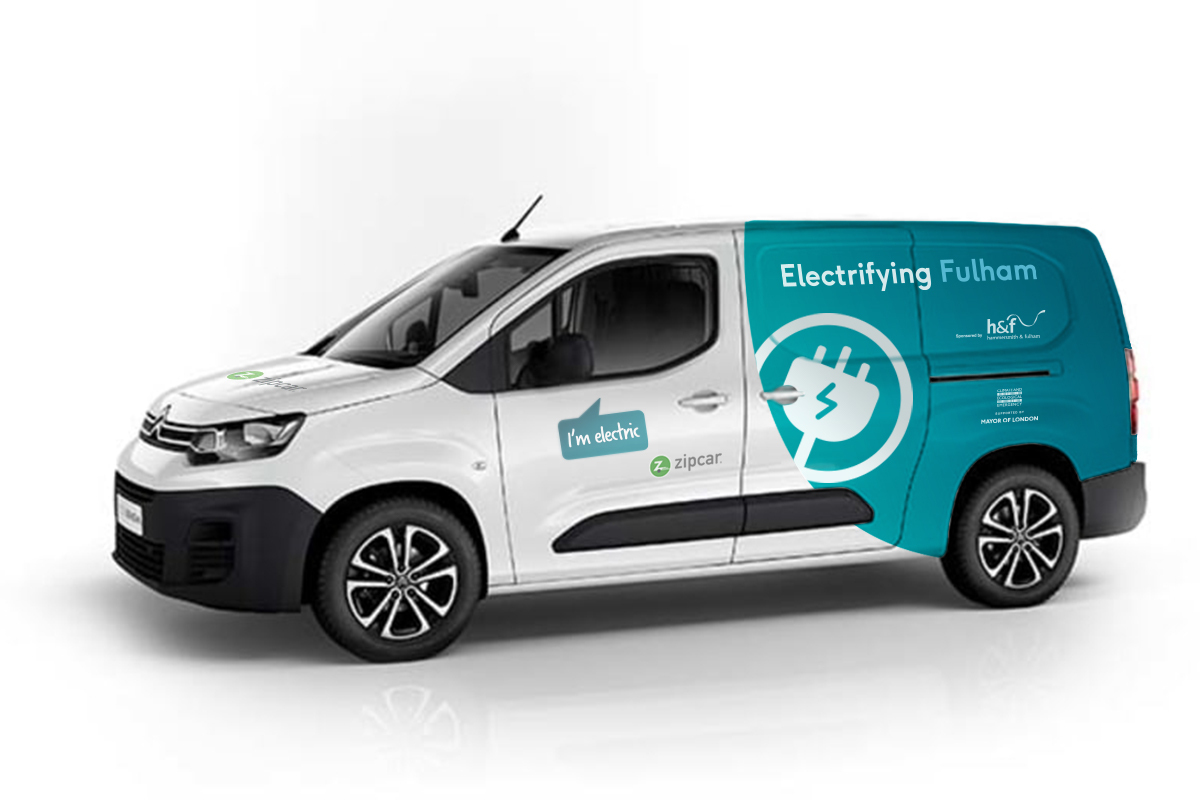 Citroen Berlingo Zipcar electric van for Park Royal businesses