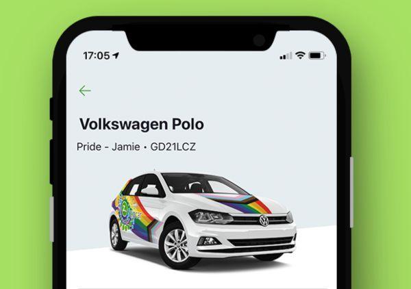 Pride in your ride car in app