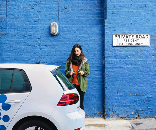 Book a Zipcar on your phone