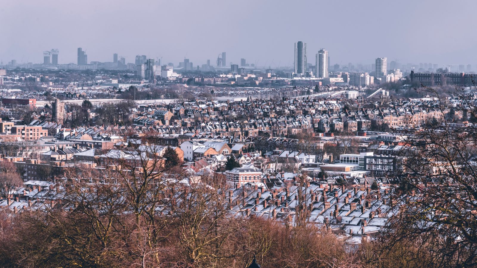 view from alexandra palace park
