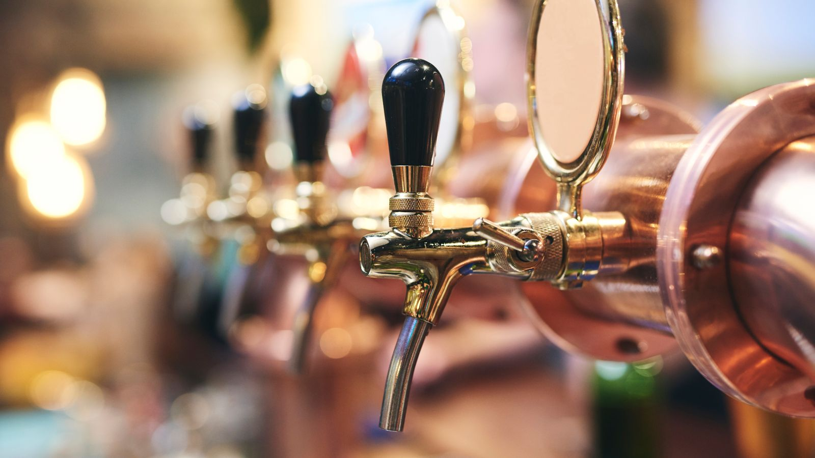 craft beer taps