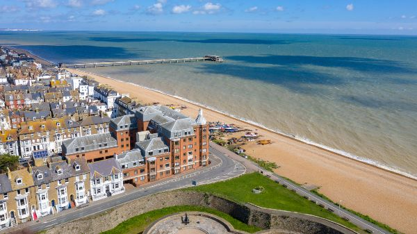 aerial view of Deal, Kent