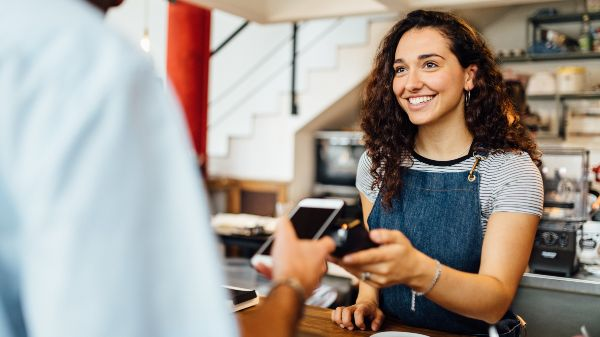 contactless payment with a customer