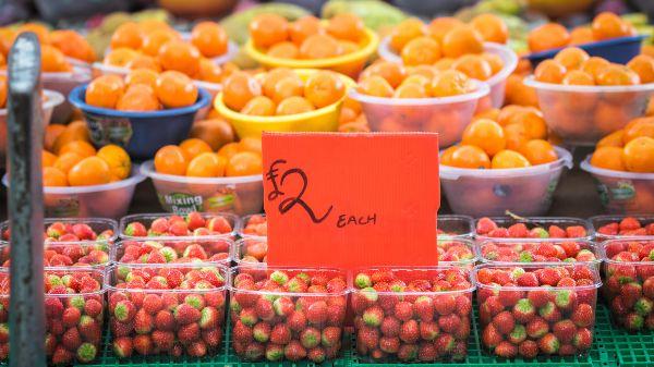 Fresh fruit at Marylebone Farmers' Market