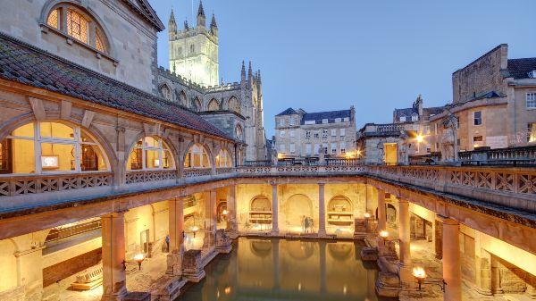 Roman baths in Bath city centre