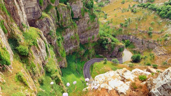 aerial view of cheddar gorge