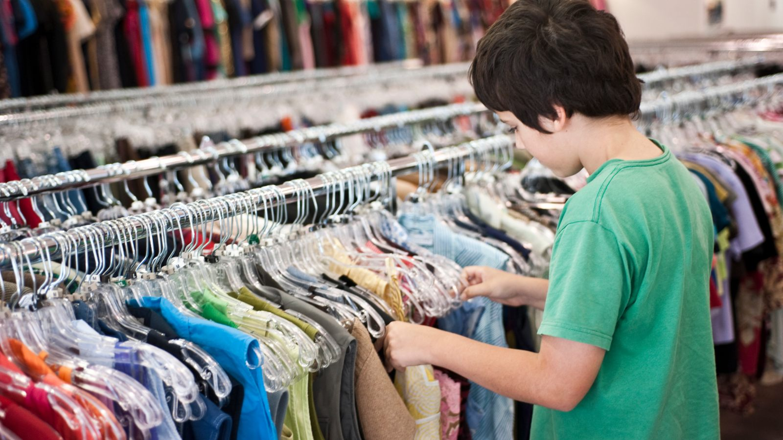 charity shop shopping for kids clothes