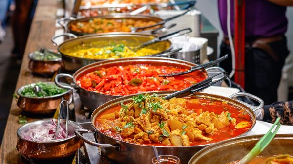 Food market curry