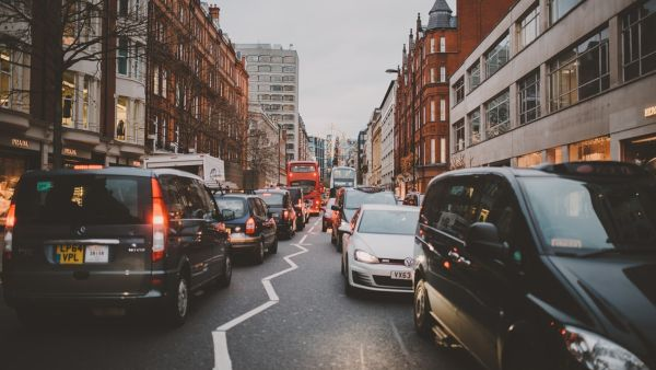 busy traffic on a london road