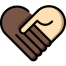 2 hands holding each other shaped like a heart